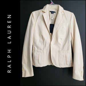 Ralph Lauren Woman  Blazer Suit Size 4 Yellow Nwt